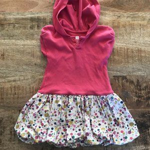 Tea Collection Pink Hooded Dress 18-24 Months